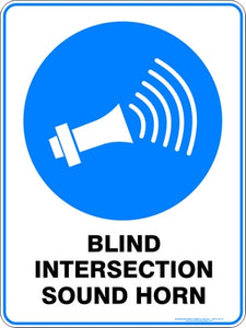 Mandatory Sign - Blind Intersection Sound Horn