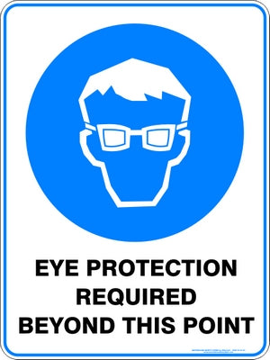 Mandatory Sign - Eye Protection Required