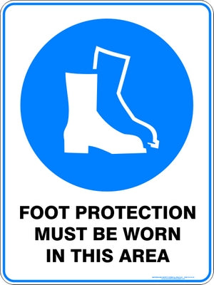 Mandatory Sign - Foot Protection Must Be Worn