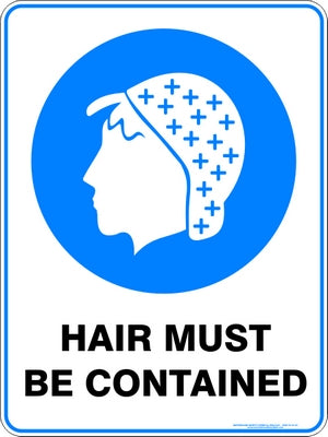 Mandatory Sign - Hair Must Be Contained