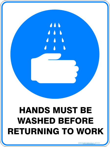 Mandatory Sign - Hands Must Be Washed