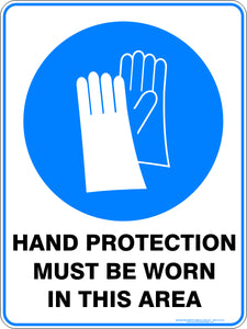 Mandatory Sign - Hand Protection Must Be Worn