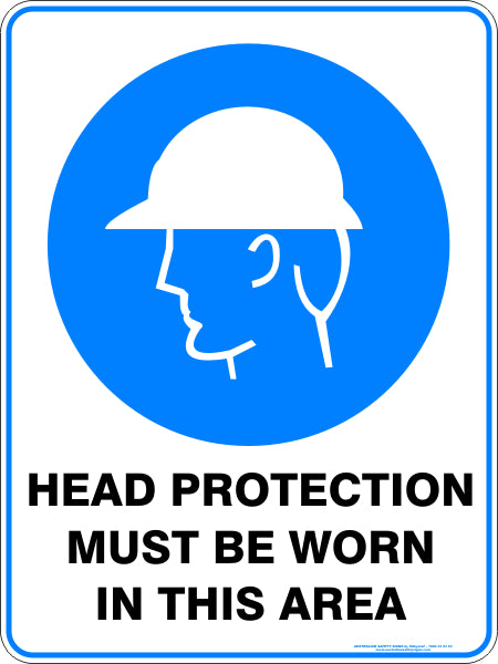 Mandatory Sign - Head Protection Must Be Worn