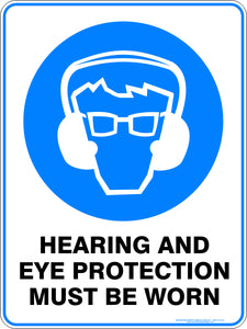 Mandatory Sign - Hearing and Eye Protection