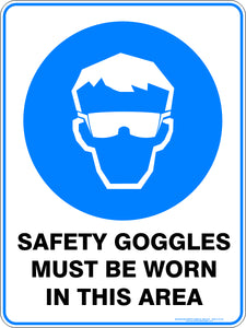 Mandatory Sign - Safety Goggles