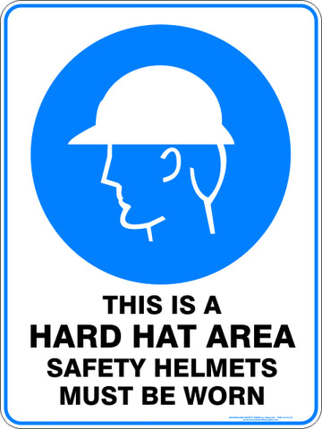 Mandatory Sign - This is a Hard Hat Area