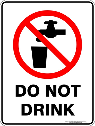Prohibition Sign - Do Not Drink