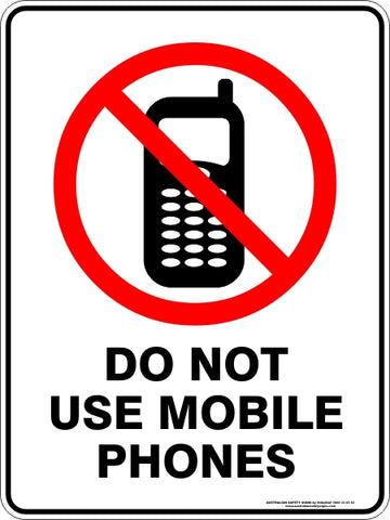 Prohibition Sign - Do Not Use Mobile Phones