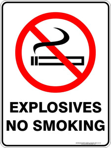 Prohibition Sign - Explosives No Smoking
