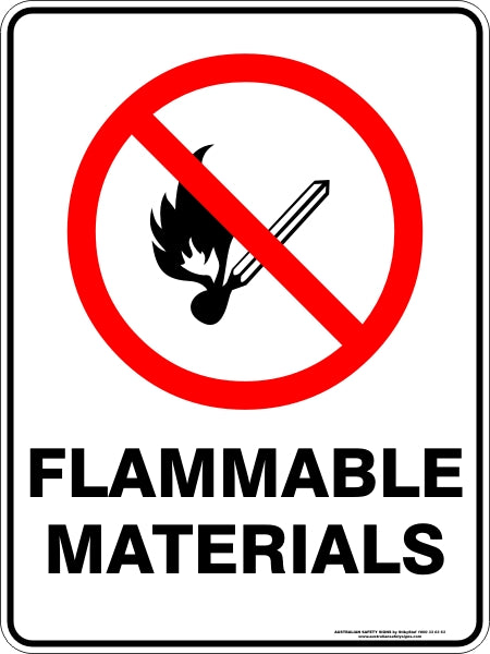 Prohibition Sign - Flammable Materials