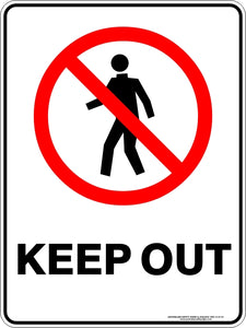 Prohibition Sign - Keep Out