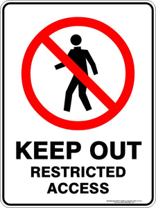 Prohibition Sign - Keep Out Restricted Access