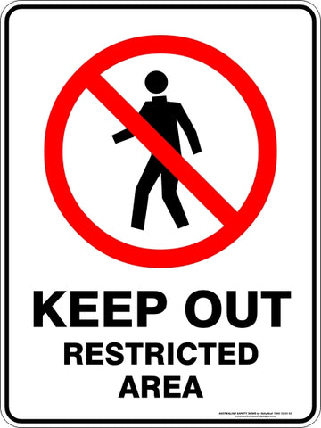 Prohibition Sign - Keep Out Restricted Area