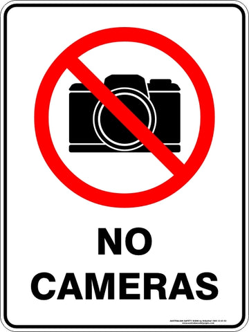 Prohibition Sign - No Cameras