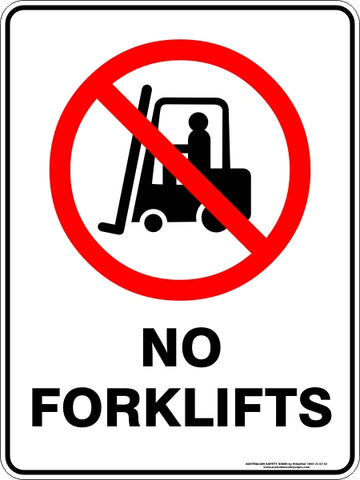 Prohibition Sign - No Forklifts