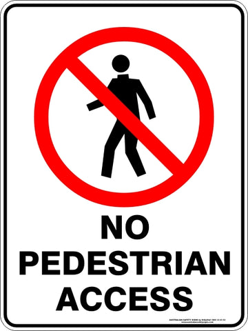 Prohibition Sign - No Pedestrian Access