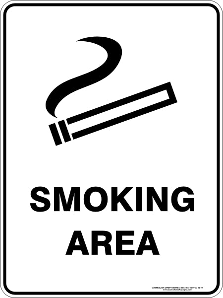 Prohibition Sign - Smoking Area