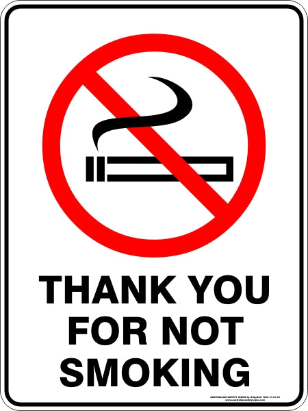 Prohibition Sign - Thank You for Not Smoking