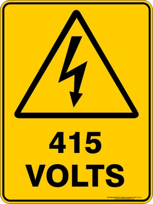 Warning Sign - 415 Volts