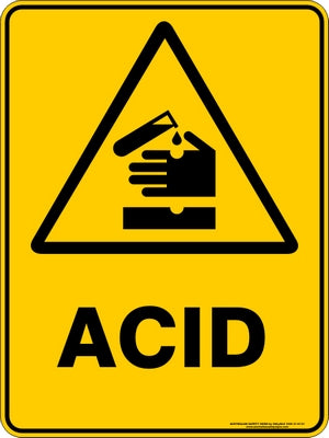 Warning Sign - Acid
