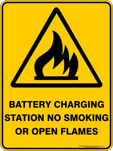 Warning Sign - Battery Charging