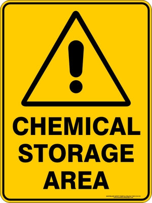 Warning Sign - Chemical Storage Area