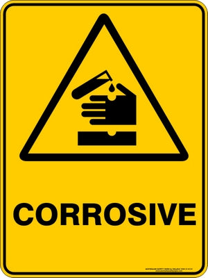 Warning Sign - Corrosive