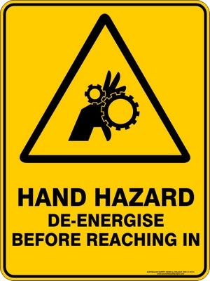 Warning Sign - Hand Hazard