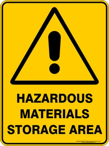 Warning Sign - Hazardous Materials Storage