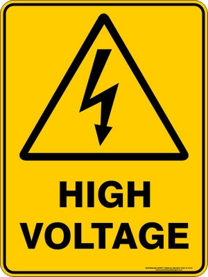 Warning Sign - High Voltage
