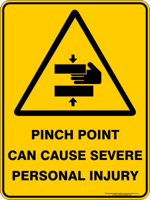 Warning Sign - Pinch Point Severe Injury