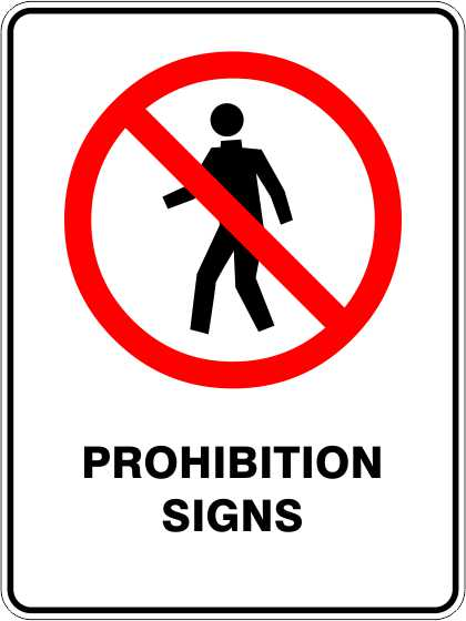 Prohibition Signs & Stickers