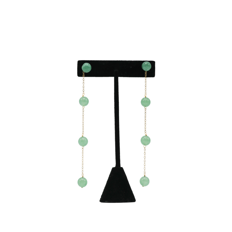 Green Jade Earrings (long)