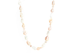 Baroque Pearl & Moonstone Necklace multicolor pearls