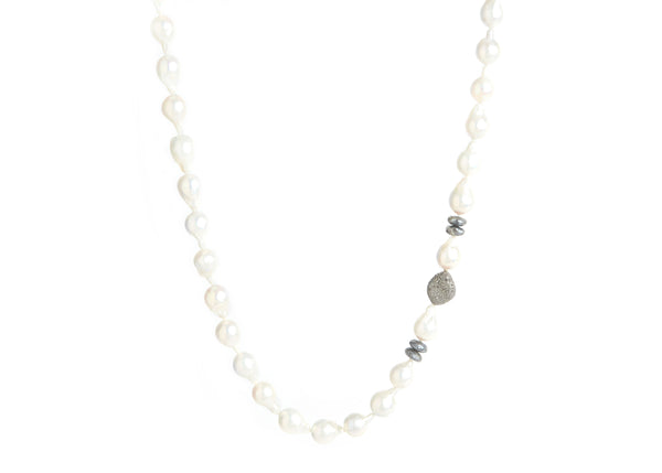 Pearl, Moonstone & Nugget Necklace