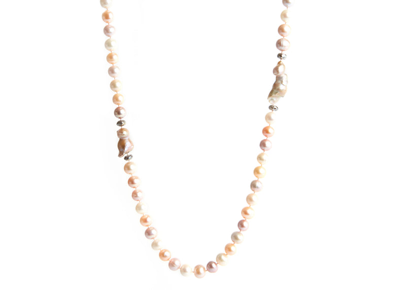 Pearl, Baroque Pearl & Moonstone Necklace