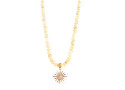 Opal & Diamond Sunburst Necklace