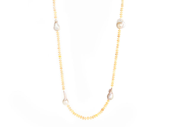 Opal & Baroque Pearl Necklace