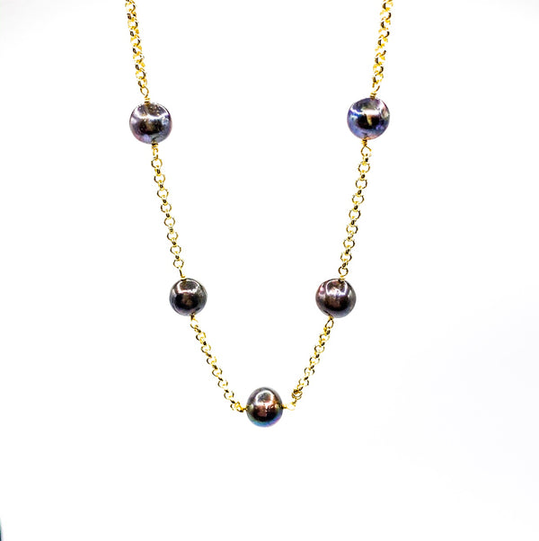 Black Pearl Necklace (Short)
