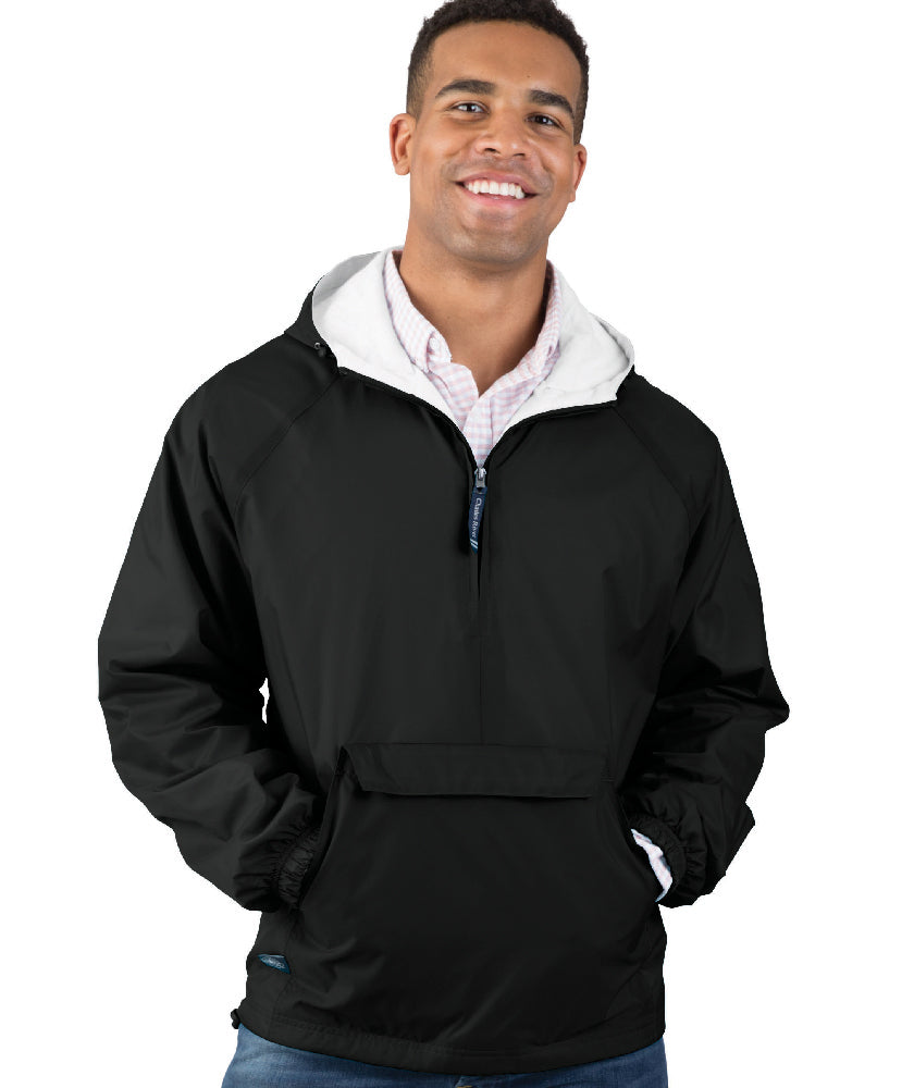 Charles River Rain Jacket ADULT CLASSIC SOLID PULLOVER w/Pattonville Logo   Sizes S to 3XL