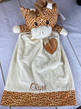 "Giraffe - Lovie / Security Blanket/ Cuddle Blanket - 20"" Long"