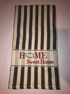 Embroidered Dish Towel - Home Sweet Home (Missouri or other state)