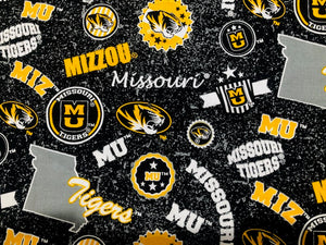 Missouri/Mizzou Home State Fabric