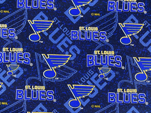 St. Louis Blues Tone on Tone Fabric