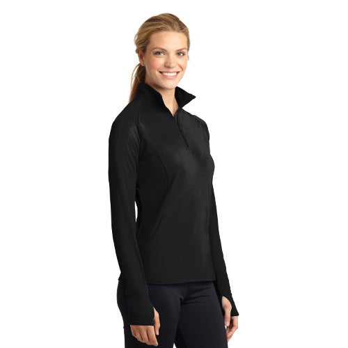 Women's - Sport-Tek® Sport-Wick® Stretch 1/2-Zip Pullover w/Pattonville Embroidery