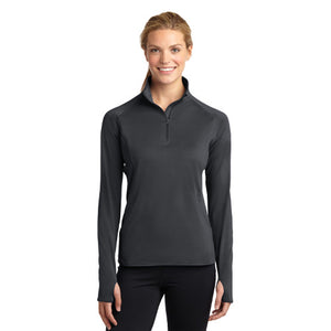 Women's Sport-Tek® Sport-Wick® Stretch 1/2-Zip Pullover with Parkwood Panther embroidery