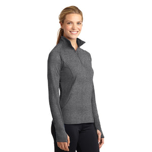 Sport-Tek® Ladies Sport-Wick® Stretch 1/2-Zip Pullover - Embroidery Included