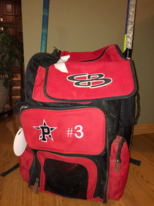 Custom Embroidered Softball Bag Pockets
