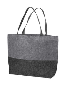 Open Top Felt Tote Bag
