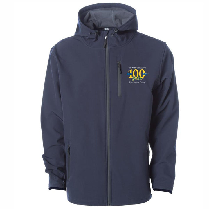 The American Legion 100 Year Float: Water Resistant Soft Shell Navy Jacket